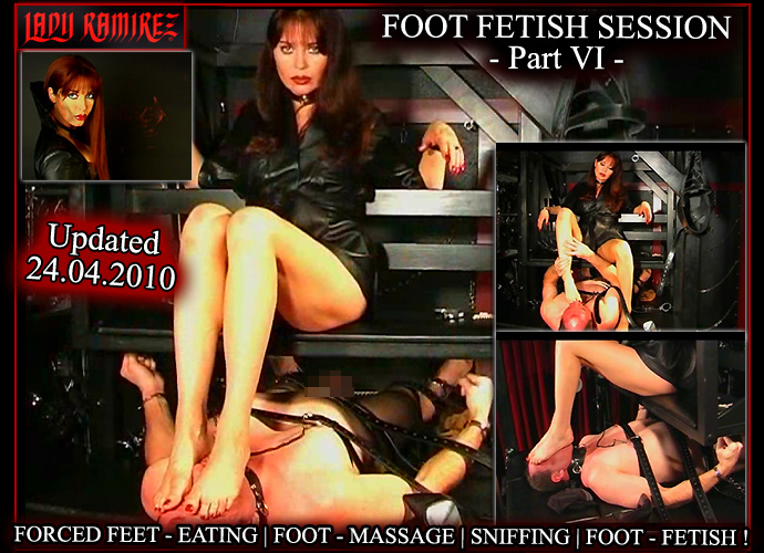 Brandnew Foot Fetish Videoclip on Lady Ramirez Membersite!