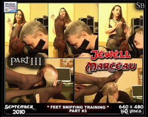 Sadobeauties presents Bondage Model and Mistress Jewell Marceau in Divine Foot Fetish, Sniffing, High Heels Fetish and Tease & Denial !