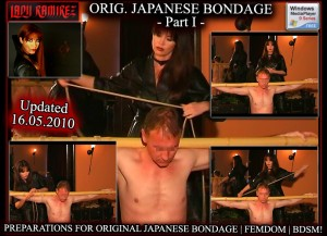 Lady Ramirez in Original Japanese Bondage - Part 1 -