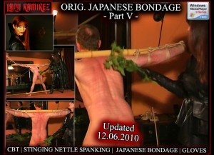 Gorgeouos Lifestyle Mistress and supreme Domme Lady Ramirez in Original Japanese Bondage - Part 5 - Femdom Video!